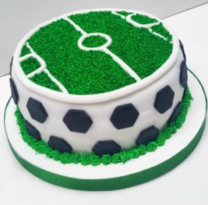 torta de estadio de fútbol