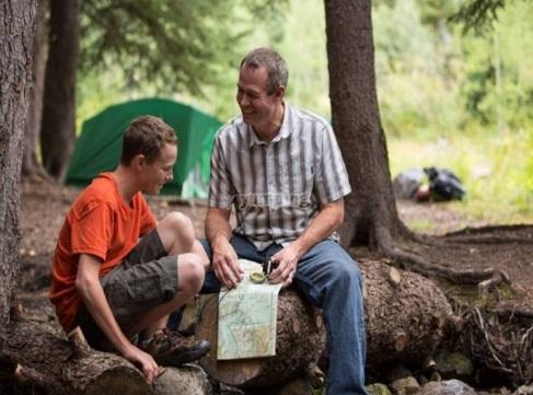 campamento con papa