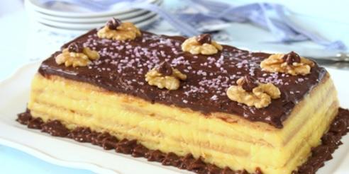 Exquisita torta de flan